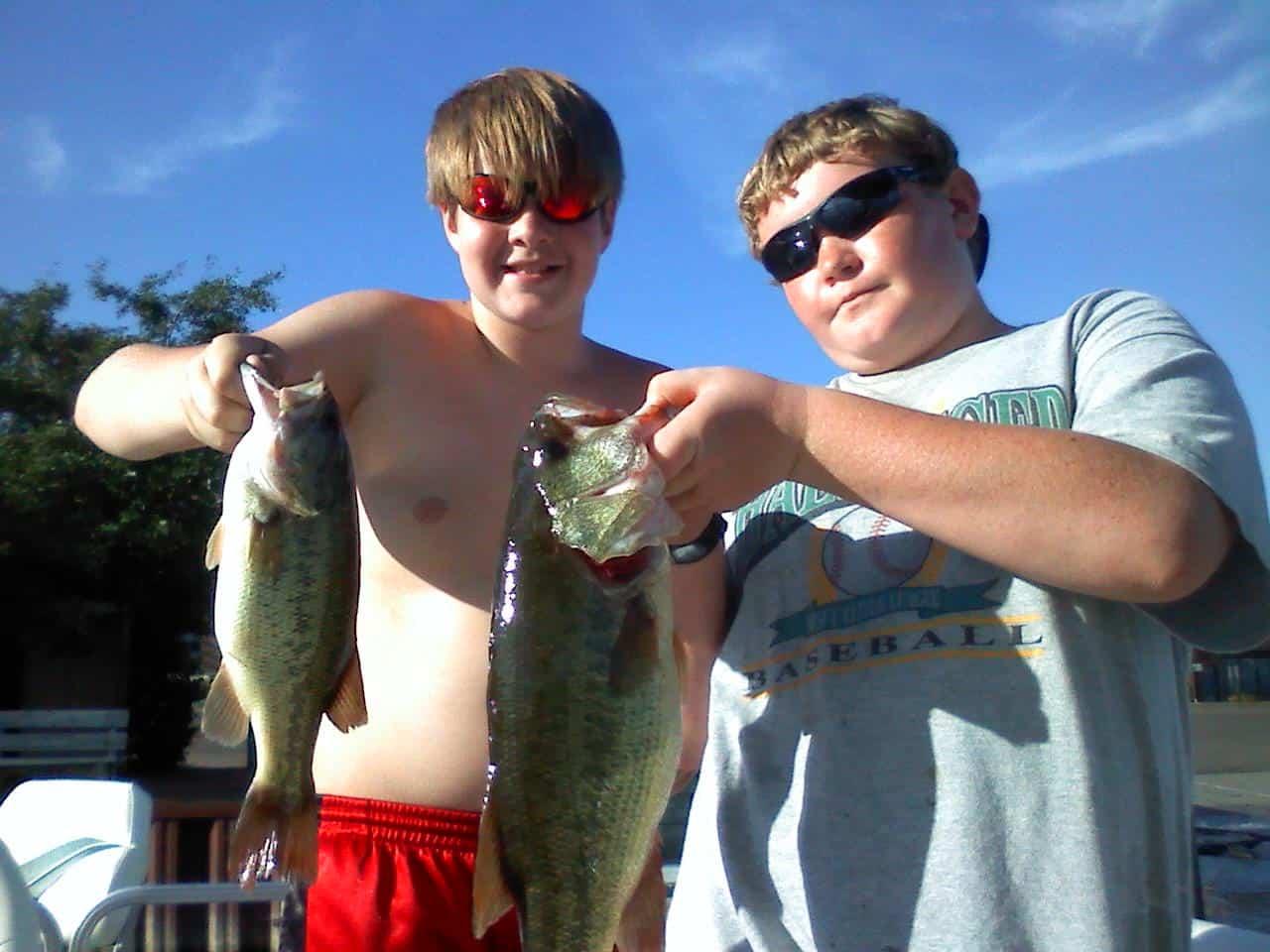 Lake Minnetonka Fishing Bass double