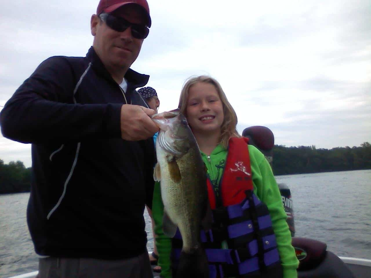 Lake Minnetonka fishing Father Daughter