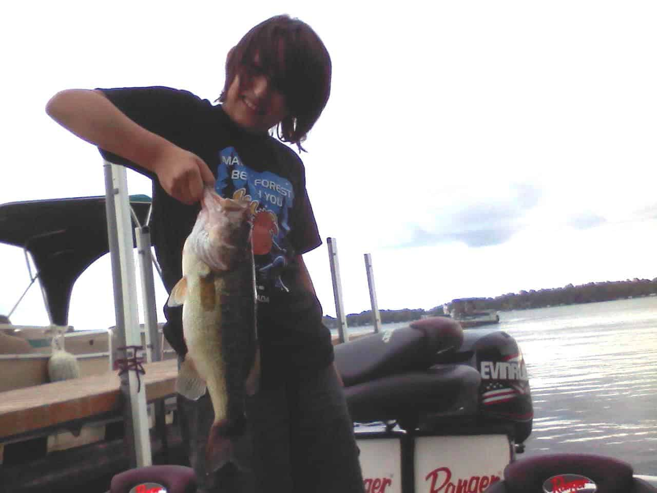 Lake Minnetonka fishing largemouth bass Alex